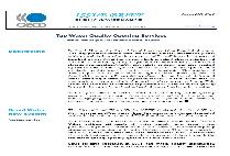 Tap Water Quality Opening Services (Issue Brief No. 09)