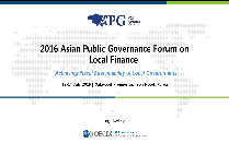 2016 APG Forum on Local Finance
